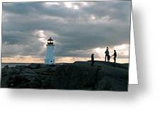 Evening At Peggy's Cove Greeting Card