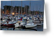 Evening At The Marina Greeting Card