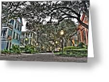 Evening Campus Stroll Greeting Card