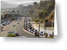Evening Commute Greeting Card by Ricky Barnard