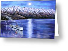 Evening Cruise Queenstown Greeting Card