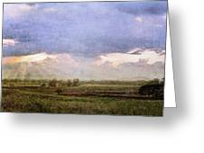 Evening Field Greeting Card
