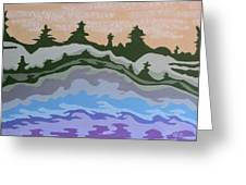 Evening Impressions Greeting Card