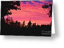 Evening In Paradise Painterly Style Greeting Card