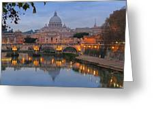 Evening In Rome Greeting Card