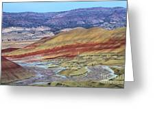 Evening In The Painted Hills Greeting Card