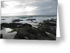 Evening Oceanview Greeting Card