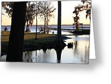 Evening On The River Greeting Card