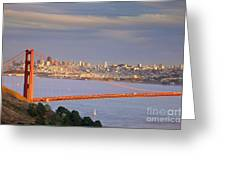 Evening Over San Francisco Greeting Card