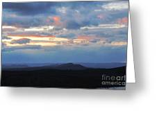 Evening Sky Over The Quabbin Greeting Card by Randi Shenkman