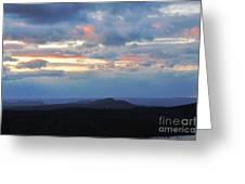 Evening Sky Over The Quabbin Greeting Card