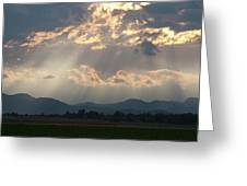 Evening Storm Clouds Greeting Card