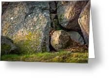 Evening Sun Rocks Greeting Card