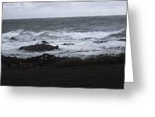 Evening Waves Greeting Card