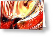 Evil Intent Abstract Greeting Card
