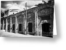 Evkaf Dairesi Bekir Pasa Su Idaresi Larnaka Iyhf Building In The Old Town Of Larnaca Republic Cyprus Greeting Card