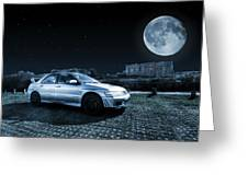 Evo 7 At Night Greeting Card