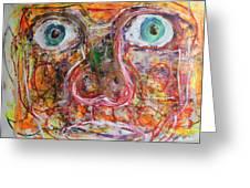 Exhibit Shocked Greeting Card by Shadrach Ensor