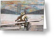 Experienced Craftsman Greeting Card by Al Goldfarb