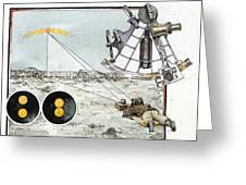 Explorer Robert E. Peary Uses The Sun Greeting Card by Richard Schlecht