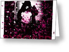 Exposed In Pink Greeting Card