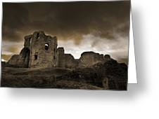 Exterior Of The Ruins Of Denhigh Castle Greeting Card