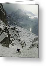 Extreme Skier Jean Franck Charlet Greeting Card