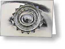 Eye And Glass Greeting Card
