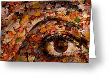 Eye Of Autumn Greeting Card