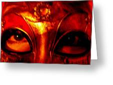 Eyes Behind The Mask Greeting Card