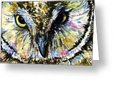 Eyes Of Owl's 13 Greeting Card