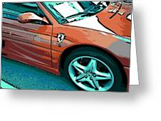 F355 Spider Greeting Card