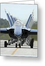 Fa-18a Hornets Assigned To The Blue Greeting Card