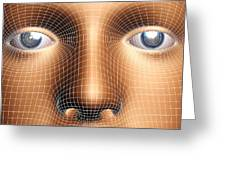 Face Biometrics Greeting Card