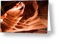 Face In The Canyon Greeting Card
