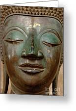 Face Of Bronze Buddha  Greeting Card