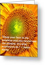 Face To The Sun Greeting Card