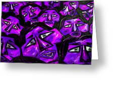 Faces - Purple Greeting Card