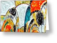 Faces Come Out Of The Rain ... Greeting Card