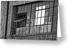 Factory Air In New Orleans In Black And White Greeting Card