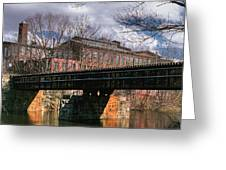 Factory And Bridge Greeting Card