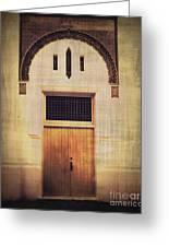 Faded Doorway Greeting Card