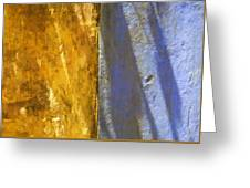 Faded Yellow And Blue Plaster Walls Meet Greeting Card