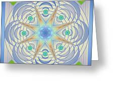 Fading Geometrics Greeting Card