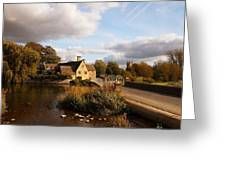 Fairford Mill In The Evening Greeting Card
