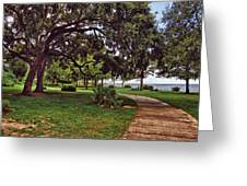 Fairhope Lower Park 2 Greeting Card