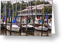 Fairhope Yacht Club Sailboat Masts Greeting Card