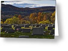 Fairview Cemetery In Autumn Greeting Card