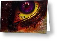 Fairy Eye Greeting Card by Yvon van der Wijk