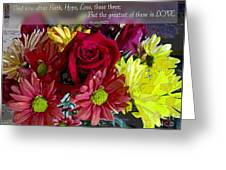 Faith Hope Love II Greeting Card